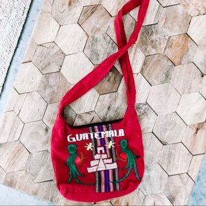 Guatemala Red Crossbody Bag
